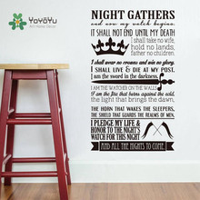 YOYOYU Wall Decal Vinyl Art Wall Sticker A Song of Ice and Fire Game of Thrones Decoration Accessories YO072(China)