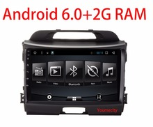 Android 6.0 Car DVD player Gps for KIA Sportage r Sportage 2009 2010 2014 2011 2012 2013 2015 with Radio RDS wifi BT+2G RAM+9'