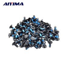 AIYIMA 100pcs M2*3/4/5/6/8/10mm Small flat head Laptop Screws Mobile notebook cruciform slot cross recessed screw(China)