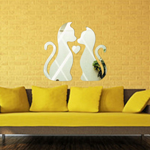 New Acrylic Wall Sticker Of Wedding Adesivo De Parede About Cat Mirror Poster For Kids Room Home Decoration Accessories