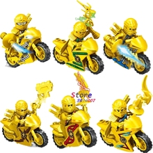 6super heroes marvel Ninja Gold Motorcycle building blocks action figure bricks toys hobby Gift kids children - Aliex Building Blocks Toys store
