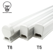 PVC LED Tube T5 Light 220V 240V T8 LED Fluorescent Tube 6W 10W 30CM 60CM LED Lamp T5 Bulb Light Cold/Warm White