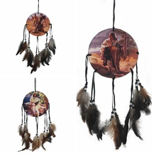 Native American Decoration Brown Long Dream Catcher Beaded Decor Ornament Craft Gift AA