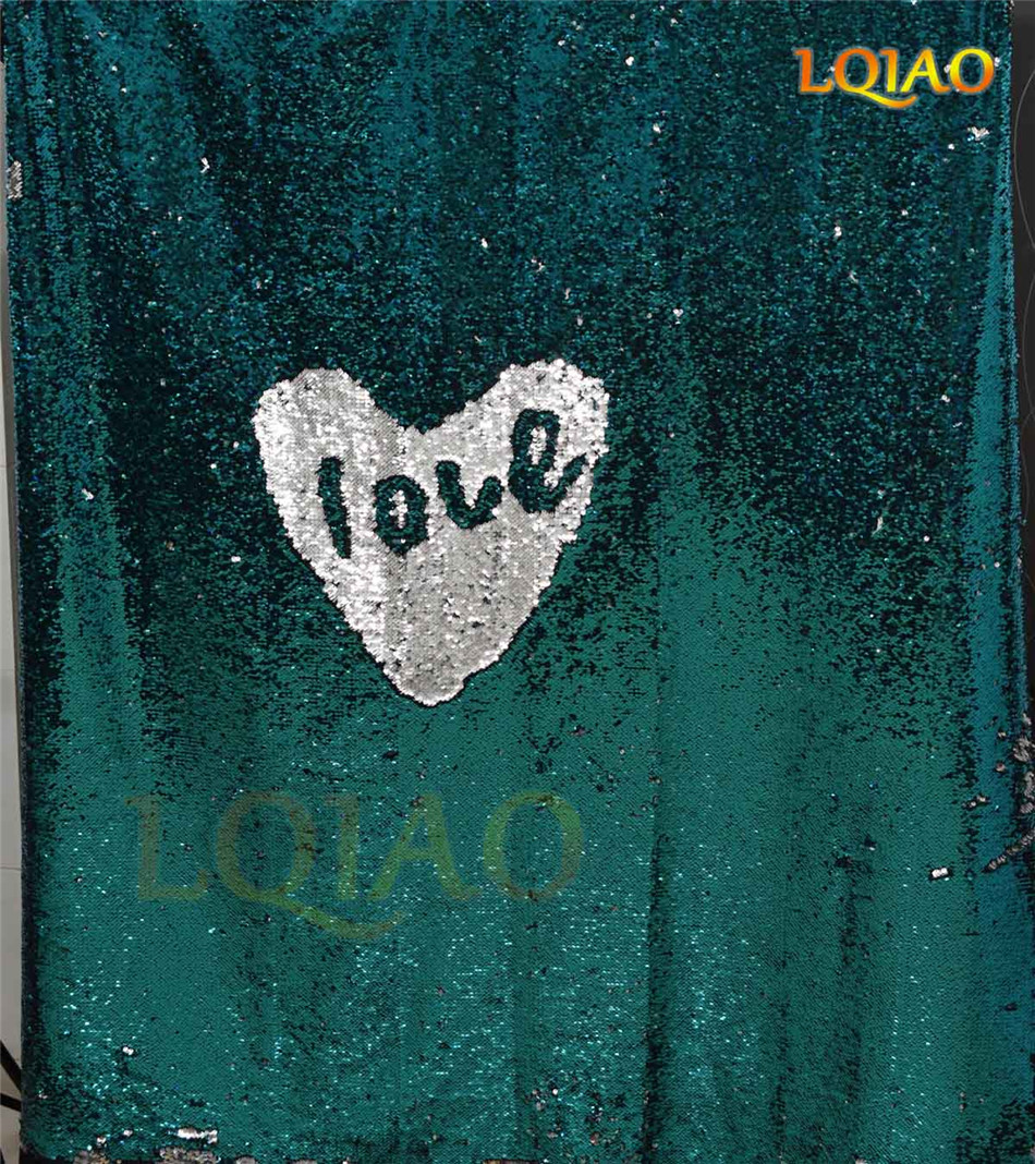 Turquoise Silver Sequin Backdrop-001