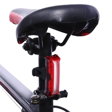 2017 New Bicycle USB Rechargeable LED Light Bike Front / Rear Light Outdoor Cycling Warning Lamp Night Safety Taillight