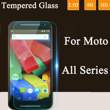 9H 2.5D Tempered Glass Screen Protector For Moto E E2 For Motorola G2 X Style Play G G2 G3 X X2 Google Nexus 6 Toughened Film(China)