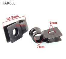 HARBLLAutomotive mechanical tubing water pipe hydraulic pipe line body positioning fixed iron clamp sub-base buckle auto parts s(China)