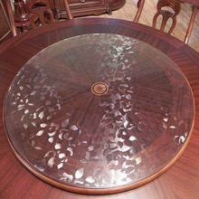 Circle crystal plate pvc table cloth transparent soft glass circle table mats scrub decorative pattern table cloth dining table