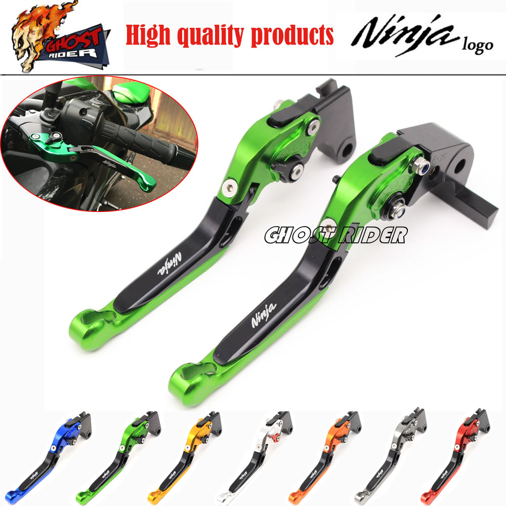 For KAWASAKI NINJA 250/300 2013-2015 Motorcycle Accessories Adjustable Folding Extendable Brake Clutch Levers <br><br>Aliexpress