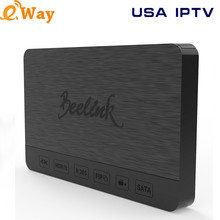 Android 6.0 TV Box Beelink SEA1 Quad Core Add 1 Year USA IPTV Smart Media Player Support SATA 3.0 Hard Disk Recording Channels