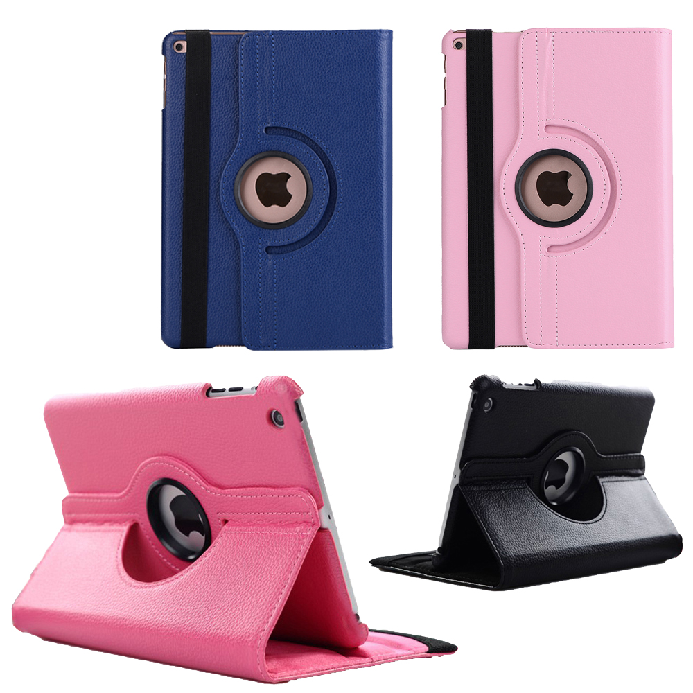 Smart Rotation Hard Fold Shell Skin Cover Holder Protector For Apple iPad Mini 1 2 3 4 7.9 inch Tablet PU Leather Rotation Shell