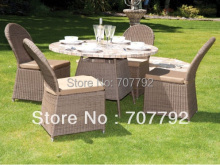 NEW!4 Seater Outdoor rattan dining Garden Furniture Set(China)