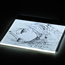 Ultra A4 Acrylic LED lighted Drawing Board LED Light Pad Box Tracing Tracer Table Copy Pad Sketch Book Blank Canvas for Painting(China)