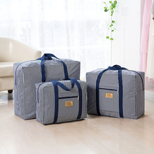 2017 Men women Travel Bags Luggage Nylon Duffle Bags Travel Handbag Waterproof Weekend Bags Large strip dots Big Bag