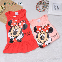 Kids Girls cartoon Minnie dress tutu Princess dress grils Party dresses Sleeveless Dress for Kids Clothes