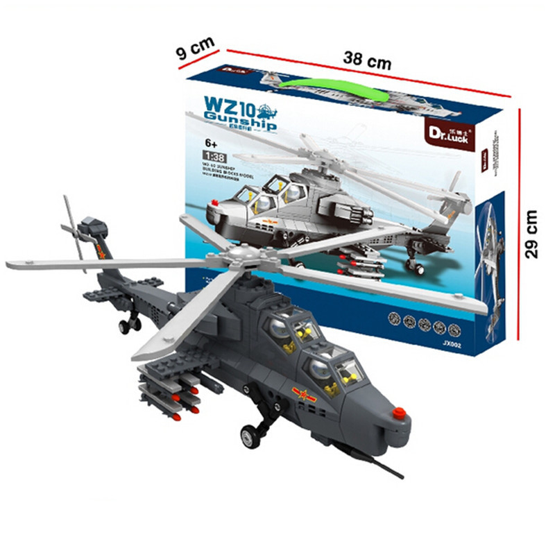JX002 Baby Toys WZ-10 Gunship Army Military Helicopter Building Bricks 304 PCS Learning &amp;Educational Blocks<br><br>Aliexpress