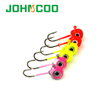 NEW 5pcs 3D Eye Lead Jig Head 2g 3g Barbed Hook Soft Lure Jigging Hook Fishing Hooks Lead Head Hook