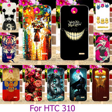 Soft TPU Plastic Phone Case For HTC 310 V1 Pasinted Case For HTC Desire V1 310 D310 D310W 4.5 inch Painted Case Cover housing