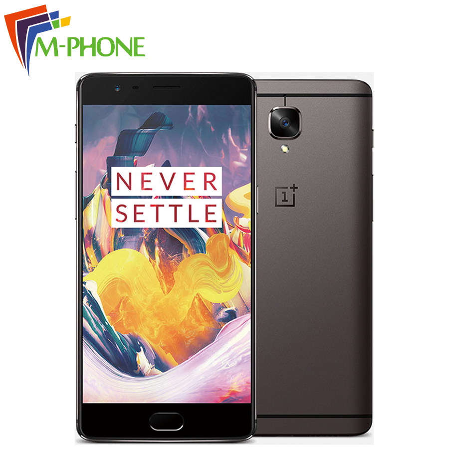 Original Oneplus 3T A3010 Mobile Phone Snapdragon 821 6GB RAM 64GB ROM 5.5 inch 16MP Camera Fingerprint ID NFC 4G LTE SmartPhone(China (Mainland))