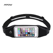 Mpow Sport Running Waist Pack Waterproof Belt Adjustable outdoor Nylon Pouch Mobile Phone bag for iPhone 6s 6 5s 5 Samsung HTC(China)