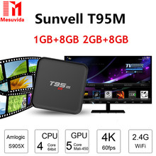 Sunvell T95M TV Box Amlogic S905 Quad Core 64Bit Android 5.1 Smart 4K HD Media Player 1GB 8GB Built in 2.4G WiFi Bluetooth