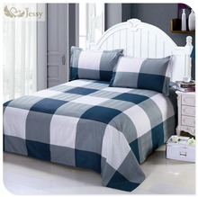 100% Polyester Bedding Set Tartan Design Duvet Cover Plaid Bed Linens Twin Queen King Size 3Pcs Bed Linens