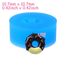 TYL049U 10.7mm Mini Donut / Doughnut Silicone Mold - Fondant, Cake Decoration Craft, Cabochon, Candy, Gum Paste, Resin Oven Safe
