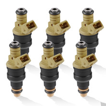 6pcs Yellow Fuel Injectors for Ford Cars & Trucks 4.6 5.0 5.4 5.8 Fuel Nozzles Auto Engine Replace Spare Part Car-styling