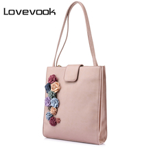 LOVEVOOK brand new spring fashion handbags women designer high quality casual tote bag flower female shoulder bag for women 2017