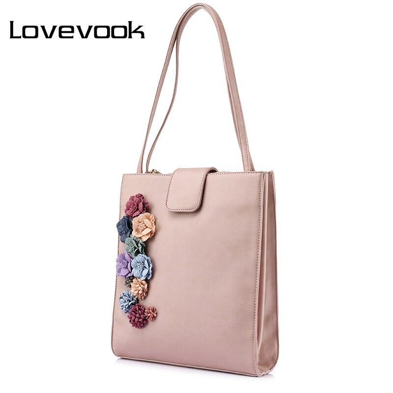 LOVEVOOK brand new spring fashion handbags women designer high quality casual tote bag flower female shoulder bag for women 2017<br>