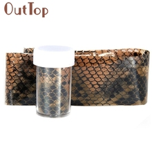 GRACEFUL STYLISH SNAKE SKIN PATTERN Design Nail Art Foil Stickers Transfer Decal Tips Manicure MAY12