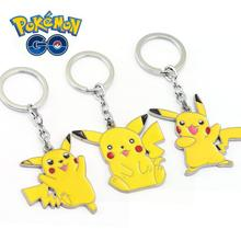 [Pokemon Go] Pikachu Keychain Cute Novelty Jewelry Hot Game Anime Pocket Monster Figure Toy Key Ring Fans Gift Collection New