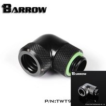 Barrow Black Silver OD12/14mm Hard tube fitting  90 degree Rotary Fitting water cooling Adapter OD12mm hard pipe TWT90KND-K12