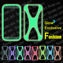 Newest  For AMIGOO H9 3G/H2000/H3000/R200 Fashion Cool Silicon Soft Exclusive Universal Bumper Glow Phone Case,Free Gift