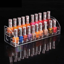 New Style Makeup Cosmetic 2 Tier Clear Acrylic Organizer Mac Lipstick Jewelry Display Stand Holder Nail Polish Rack Makeup Shelf