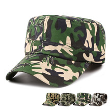 LongKeeper Camo Caps Flat Top Summer Caps Army Baseball Cap Quick Dry Hats Promotion Price