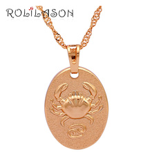 Unique 12 Constellation Cancer design gold tone Fashion Jewelry High Quality Necklace & Pendants LN539