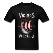 New Brand Man T-shirt Customized Valhalla Unique Print Vikings are Coming T Shirt Man Hot Tees Top