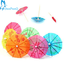 HOT 50 pcs Paper Cocktail Parasols Umbrellas drinks picks wedding Event & Party Supplies Holidays luau sticks 91PM(China)