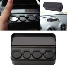 Practical Black Car Interior Coin Case Storage Box Holder Container Organizer