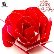 3D всплывающее вырос спасибо поздравительные открытки цветок ручной работы пустой Винтаж Бумага лазерной резки с днем рождения любовь пода...(China)