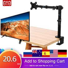 "13-27"" Single Arm LCD Monitor Arm TV Stand Brackets Monitor Holder Desk Mount Stand Fully Adjustable 360 Degree Tilt Swivel New(China)"