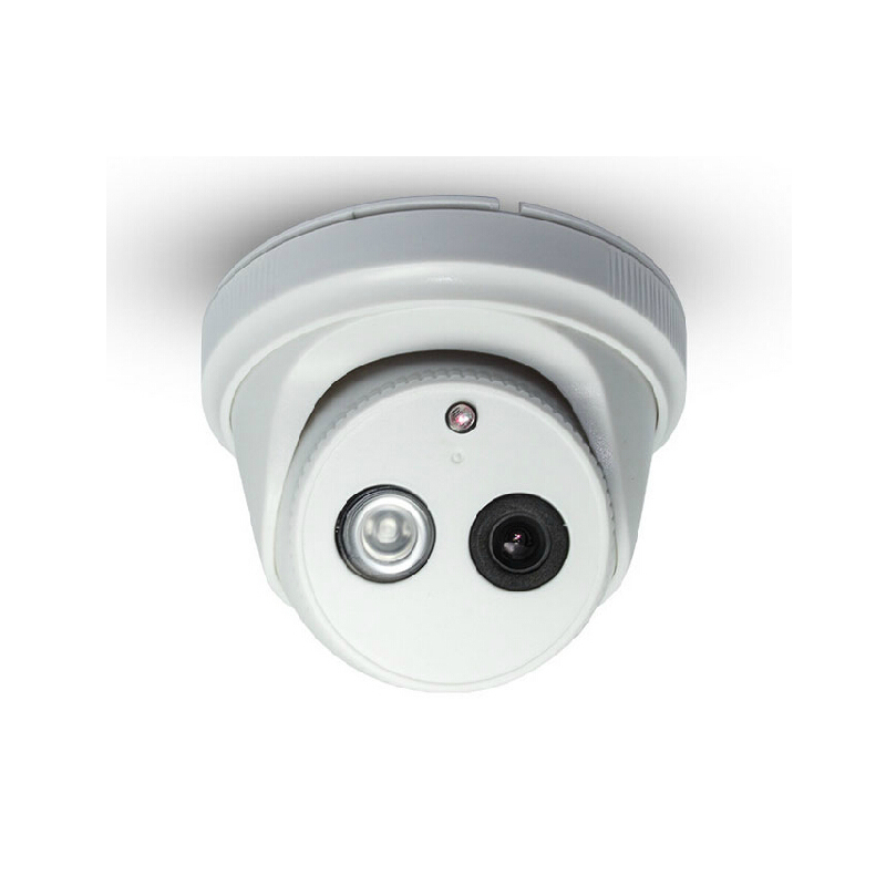 Indoor Dome Infrared IP Network Camera Onvif H.264 P2P Security 720P 1MP HD Monitor POE Audio<br>