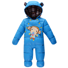 Baby romper winter down boys girls child baby one piece romper thickening