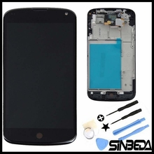 Sinbeda High Quality LCD Display For LG Google Nexus 4 Optimus E960 LCD Display + Touch Screen Digitizer with Bezel Frame(China)