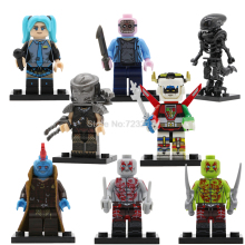 Single Sale Movie Voltron Predator Figure Jason Voorhees Yondu Hatsune Miku Alien Set Model Building Blocks kits Brick Toys(China)