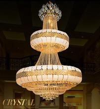 LED Modern chandelier luxury K9 Gold crystal chandelier lighting Upscale Royal Lustre large crystal chandeliers(China)