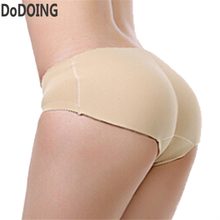 Buy latex waist trainer butt lifter panties Women Sexy Underwear slimming pants Fake ass Booty Padded panty Ass enhancer Hips