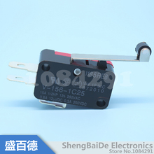 10pcs/lot V-156-1C25 Long Hinge Roller Lever AC DC Micro Switch SNAP Action Switch 100% New