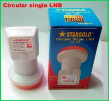 STARGOLD Circular  polarization Single  Best Signal digital HD  KU Band  waterproof High Gain Low noise satellite Dish LNB